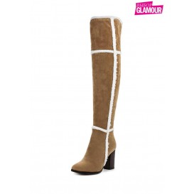 Ботфорты GAZELLE SHEARLING OVER THE KNEE BOOT LOST INK модель LO019AWKYP31 cо скидкой